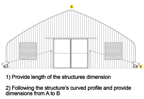 Greenhouse curved profile drawing