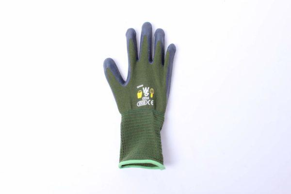Green kids garden gloves