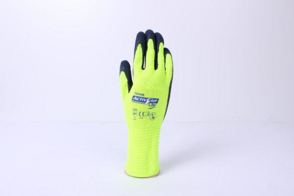 Neon garden gloves