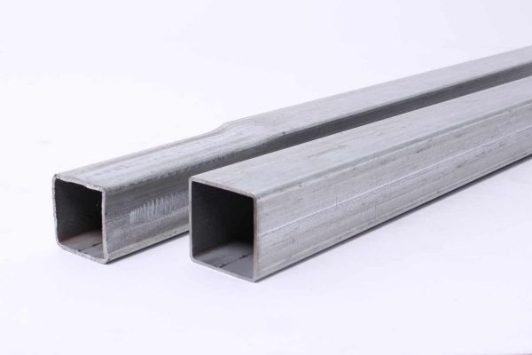 "1.5"" greenhouse galvanized square tubing - swaged"